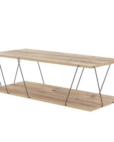 Konferenčný stolík LABRANDA borovica/čierna
