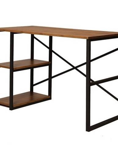 Písací stôl ATHENA borovica atlantic/čierna