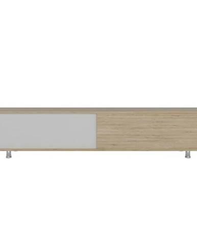 TV stolík NEHI dub/biela