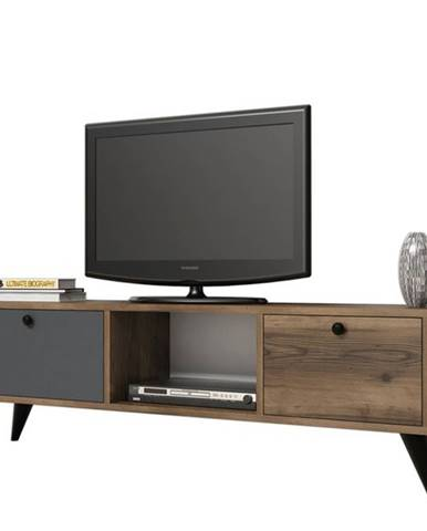 TV stolík SERENAT orech/čierna/antracit