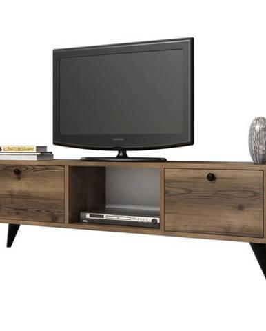 TV stolík SERENAT orech/čierna
