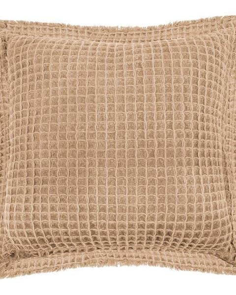 Tiseco Home Studio Béžový bavlnený dekoratívny vankúš Tiseco Home Studio Waffle, 45 x 45 cm