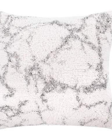 Bielo-sivý bavlnený dekoratívny vankúš Tiseco Home Studio Abstract, 45 x 45 cm