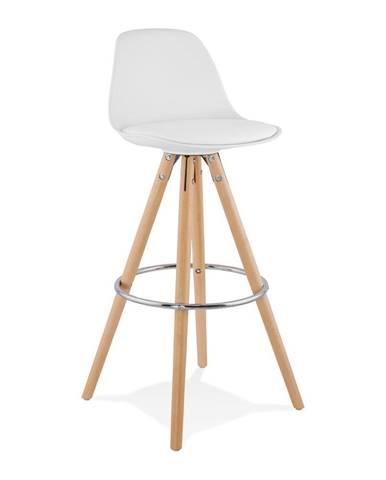Biela barová stolička Kokoon Anau, výška 74 cm