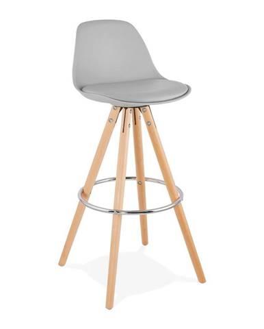 Sivá barová stolička Kokoon Anau, výška 74 cm