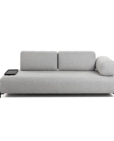Béžovo-sivá pohovka s malým odkladacím priestorom La Forma Compo