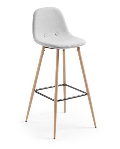 Svetlosivá barová stolička La Forma Nilson