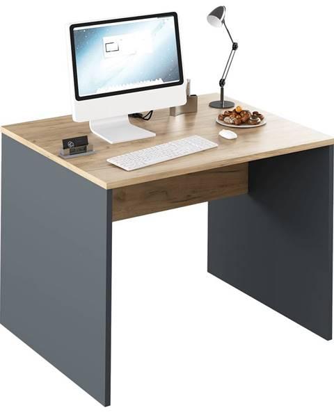 Kondela Písací stôl grafit/dub artisan RIOMA NEW TYP 12