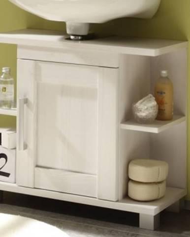 Kúpeľňová skrinka pod umývadlo Poseidon, bielený smrekovec%