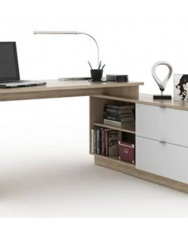 Písací stôl s komodou VENETO 01%