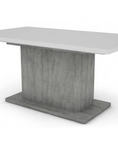 Jedálenský stôl Paulo 160x90 cm, biely/beton, rozkladací%