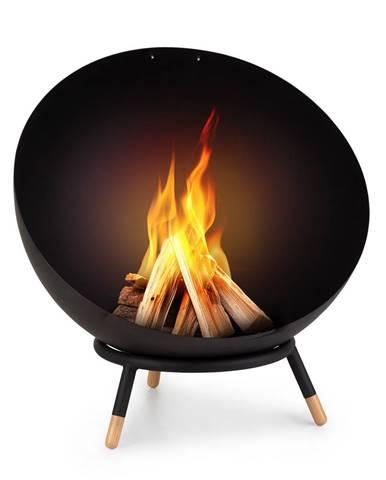 Blumfeldt Fireball Wood, sklopné oceľové ohnisko, do záhrady alebo na terasu, Ø 60 cm
