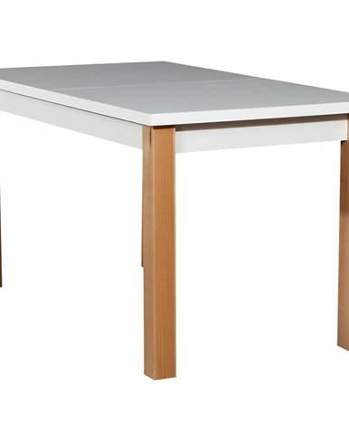 Stôl  ST28 140+40X80 biely/buk