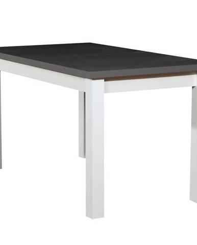 Stôl ST28 140X80+40 grafit/biely