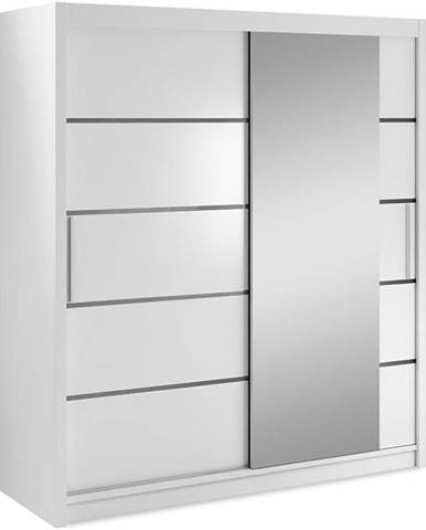 Skriňa Verona 180 biely/zrkadlo