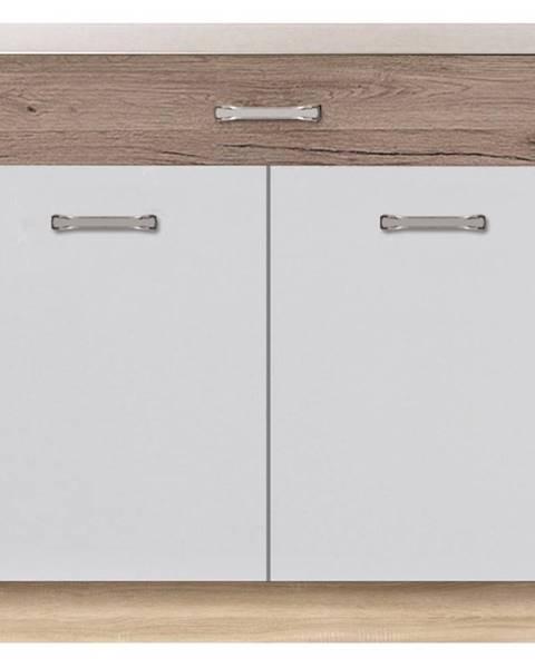 MERKURY MARKET Skrinka do kuchyne Econo 7D Sonoma/Biely/San Remo
