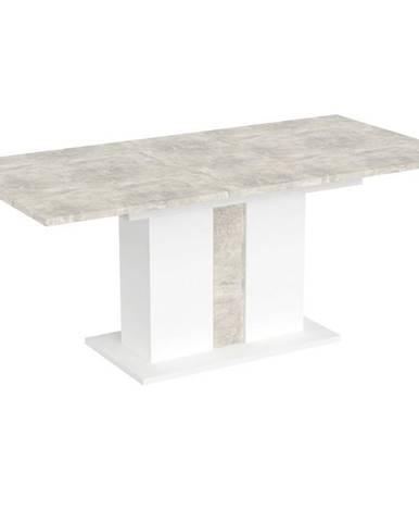 Stôl Grays Beton/Bela