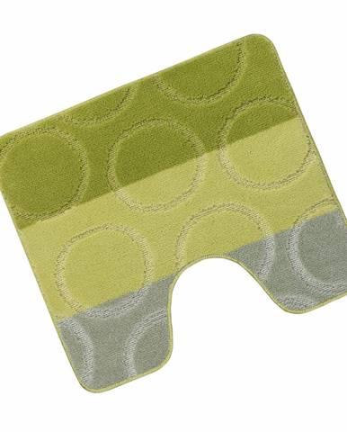 Bellatex Kúpeľňová predložka Avangard Krúžky zelená, 60 x 50 cm