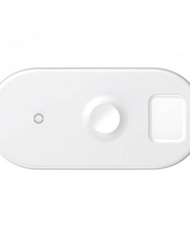 Bezdrôtová nabíjačka na Apple watch Baseus, 3v1, 18 W, biela