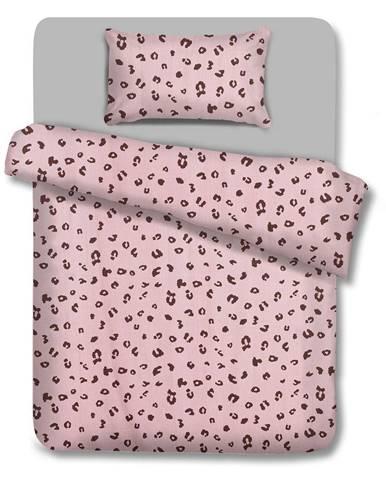 Bavlnené obliečky AmeliaHome Pink Panther, 135 x 200 cm