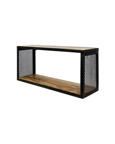 HSM collection Nástenná polica s detailom z mangového dreva HSM collection Brixton, 64×30 cm