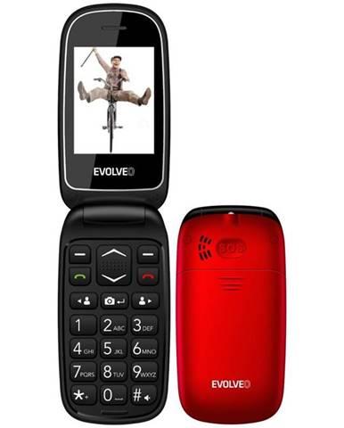 Mobilný telefón Evolveo EasyPhone FD červený