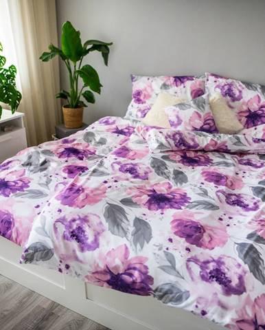 Jahu Saténové obliečky Ema Peony, 140 x 200 cm, 70 x 90 cm