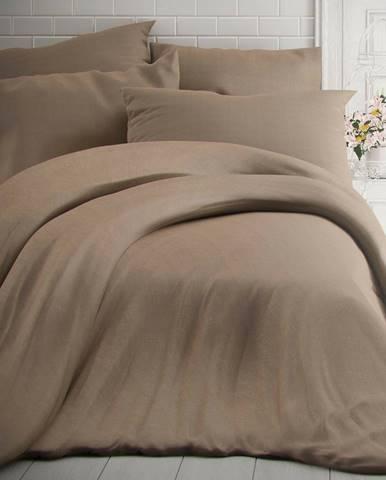 Kvalitex Bavlnené obliečky melír béžová