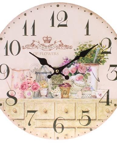 Dakls Nástenné hodiny Flowers, pr. 34 cm