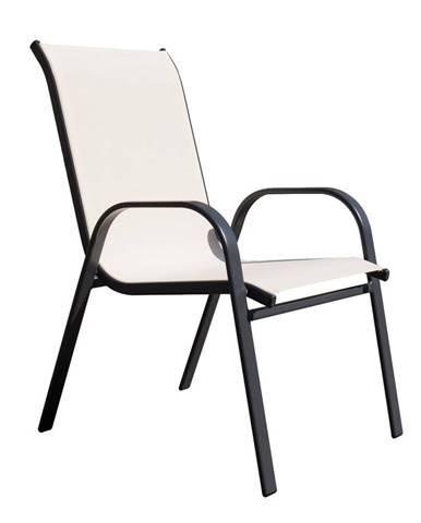 Arkadia záhradná stolička čierna