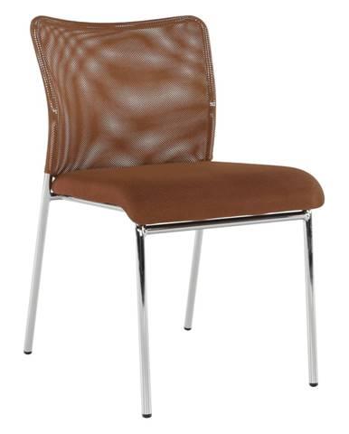Zasadacia stolička hnedá/chróm ALTAN rozbalený tovar