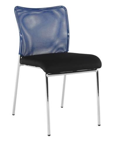 Zasadacia stolička modrá/čierna/chróm ALTAN rozbalený tovar