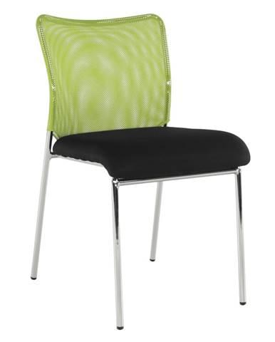 Zasadacia stolička zelená/čierna/chróm ALTAN rozbalený tovar