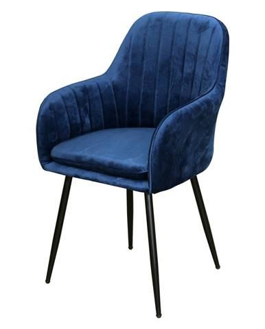 Jedálenská stolička DELTA modrý zamat