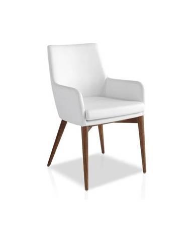 Biela jedálenská stolička Ángel Cerdá Yadira
