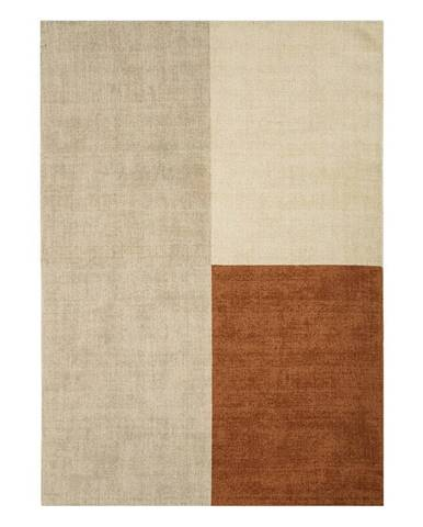 Béžovo-hnedý koberec Asiatic Carpets Blox, 200 x 300 cm