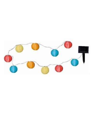 Svetelná LED reťaz vhodná do exteriéru Best Season Crazy Lampions, 10 svetielok