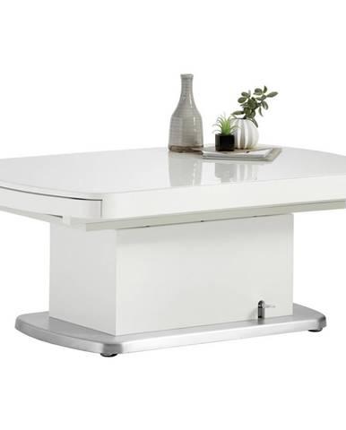 Venda KONFERENČNÝ STOLÍK, biela, kov, sklo, kompozitné drevo, 120-180/75/50-78 cm - biela