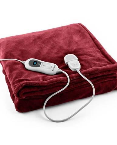 Klarstein Dr. Watson XL, vyhrievacia deka, 120 W, 180 x 130 cm, prateľná, mikroplyš, bordová