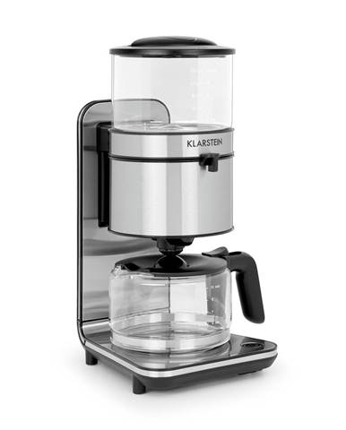 Klarstein Soulmate, prekvapkávací kávovar 1800 W, sklo, nerezová oceľ, čierny