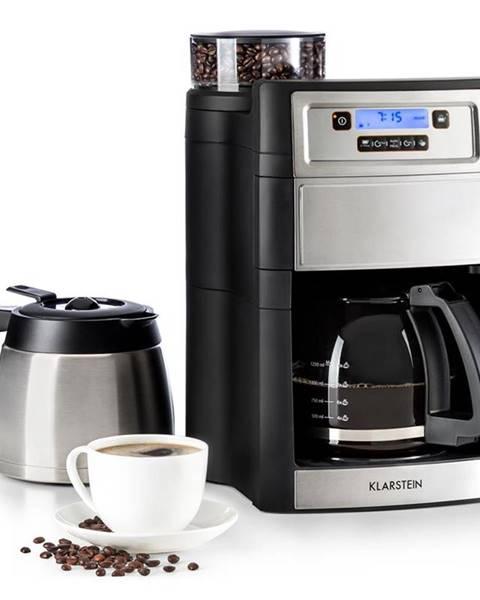 Klarstein Klarstein Aromatica II Duo, kávovar, integrovaný mlynček, 1.25 l, strieborný