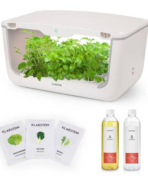 Klarstein Klarstein GrowIt Farm Starter Kit Salad, 28 rastlín, 48 W, 8 l, semená Salad Seeds, živný roztok