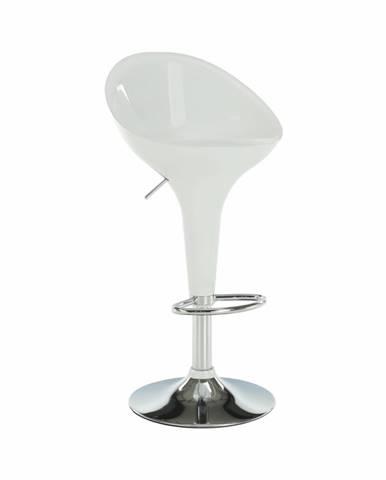 Barová stolička biela/chróm ALBA NOVA