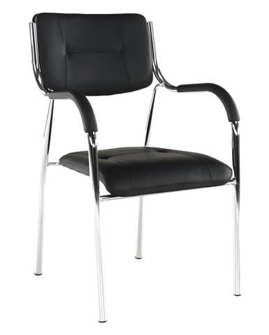 Stohovateľná stolička čierna ILHAM