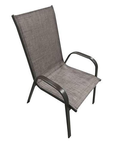 Stohovateľná stolička hnedý melír/hnedá ALDERA