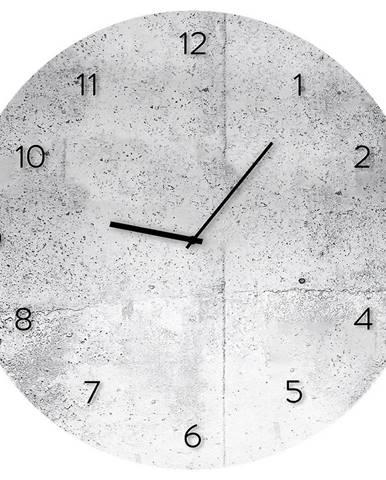 Sklenené hodiny 30cm WALL