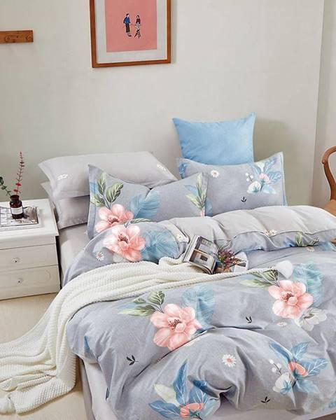MERKURY MARKET Bavlnená saténová posteľná bielizeň ALBS-01251B 200X220
