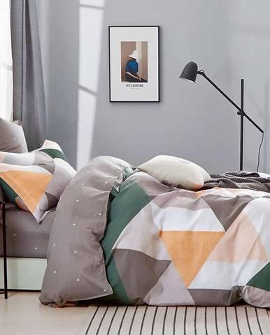 Bavlnená saténová posteľná bielizeň ALBS-01232B 160X200