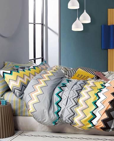 Bavlnená saténová posteľná bielizeň ALBS-01243B 160X200