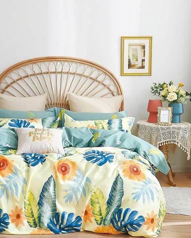 Bavlnená saténová posteľná bielizeň ALBS-01257B 200X220